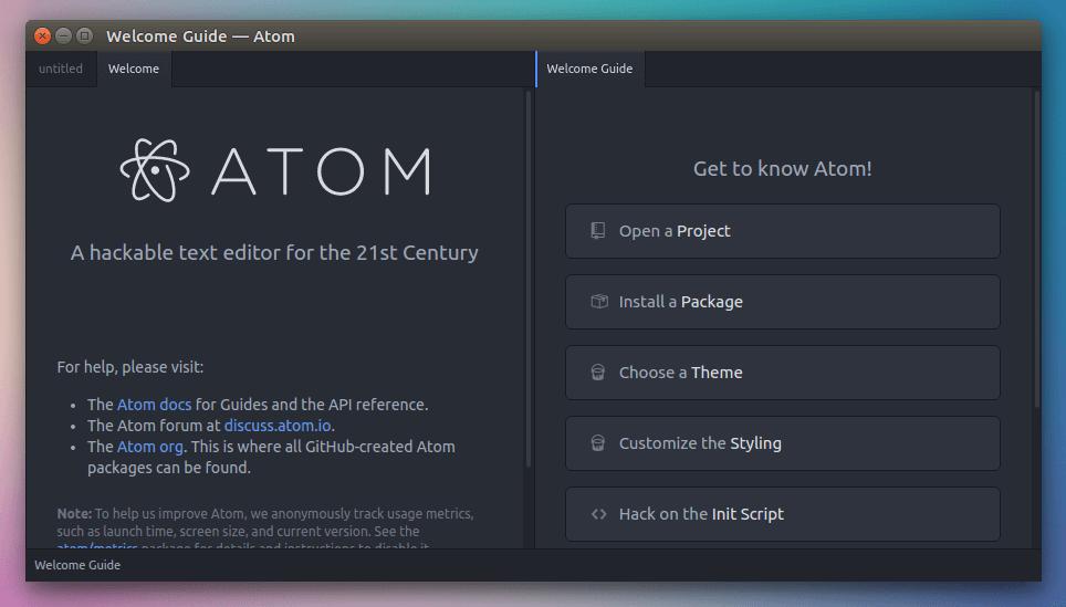 Install Atom Text Editor 1 9 On Debian Ubuntu Arch Fedora