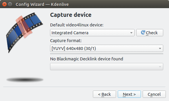 kdenlive capture device capture format
