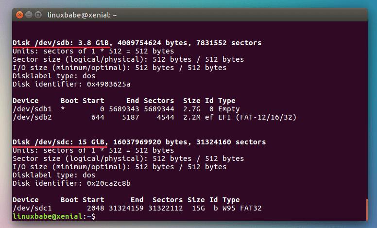 linux fdisk partition