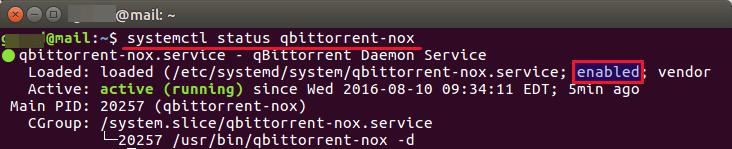 qbittorrent-nox systemd service