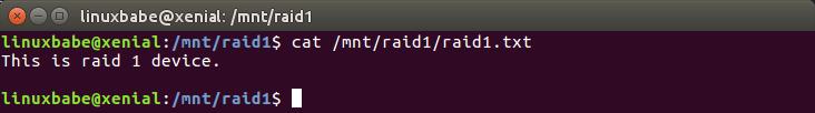 raid 1 disk failure