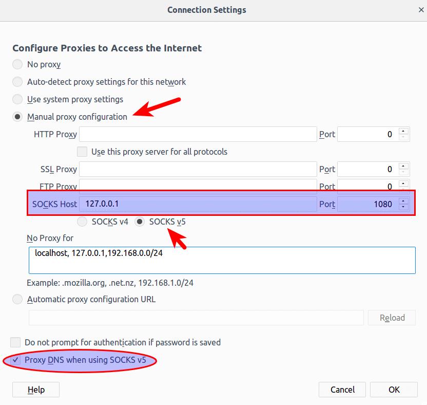 shadowsocks-libev-firefox networking-settings