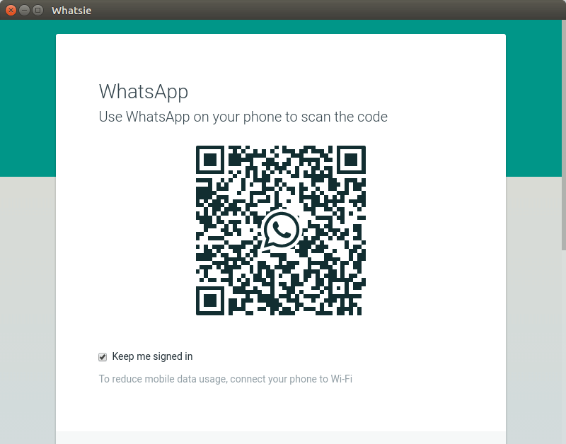 whatsapp client for ubuntu scan qr code