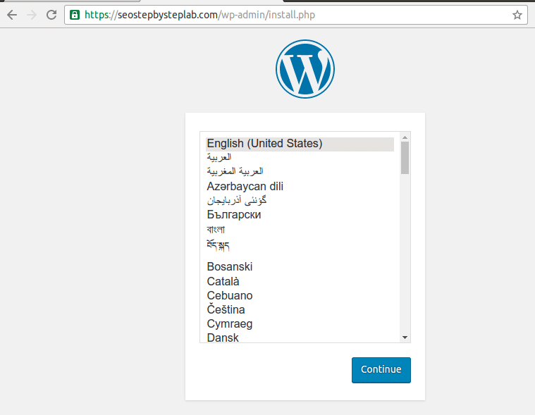 wordpress 4.6 installation