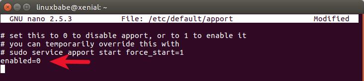 ubuntu-disable-error-popup
