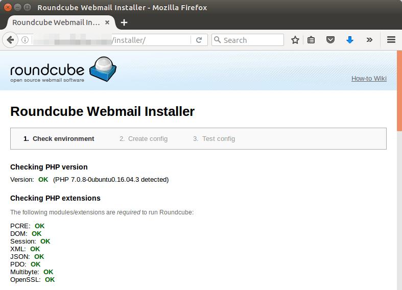 Roundcube webmail installer ubuntu 16.04