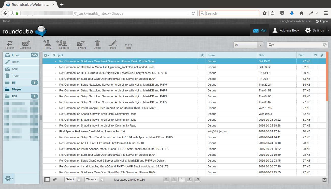 install roundcube webmail on ubuntu 16.04 vps