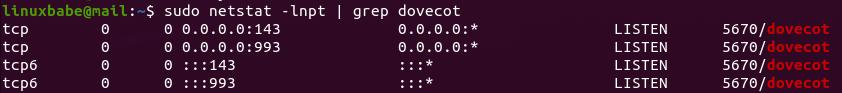 ubuntu dovecot imap server 143 993