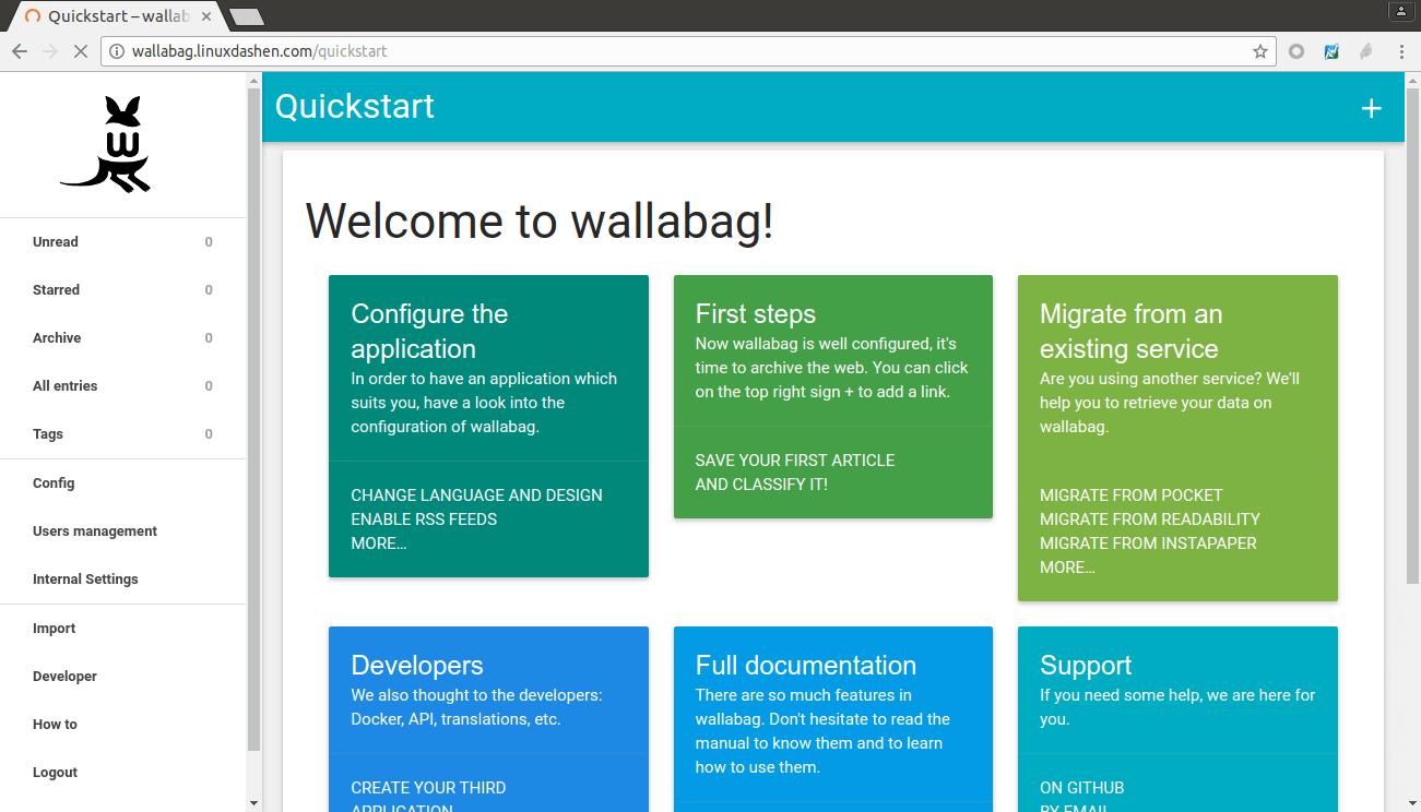 wallabag-quick-start-page