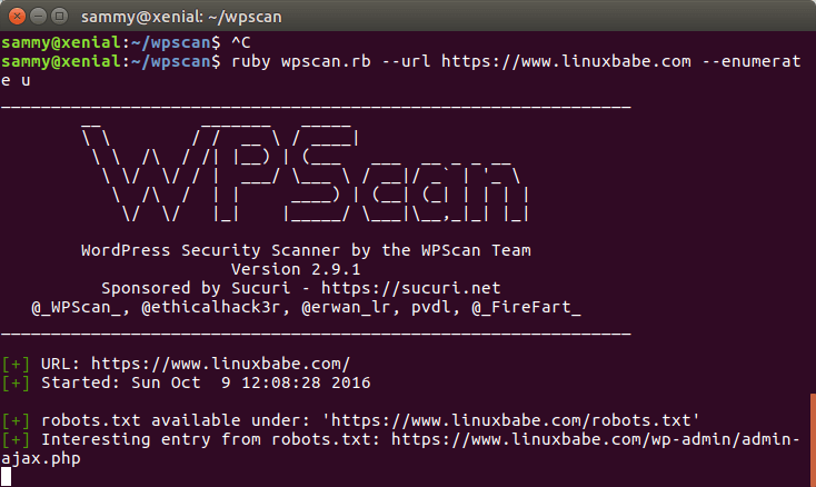 Install and Use WPScan on Linux - A WP Vulnerability Scanner