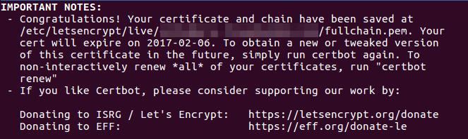 Let's encrypt free tls certificate