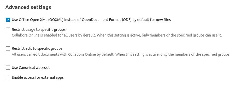 office open xml format collabora