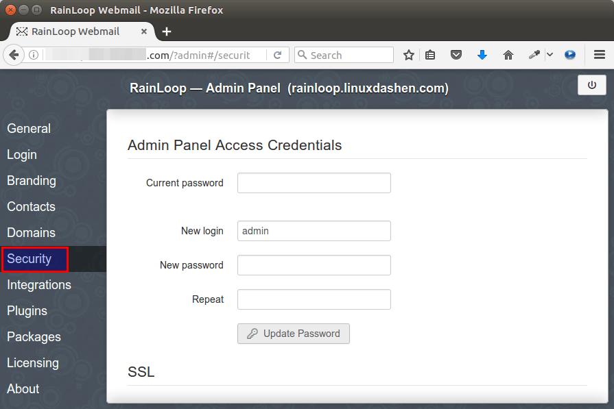 rainloop webmail ubuntu 16.04