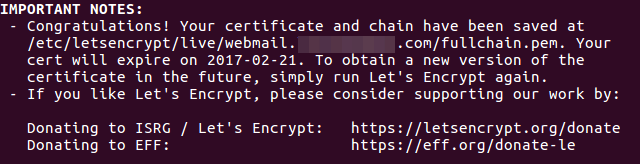 squirrelmail let's encrypt