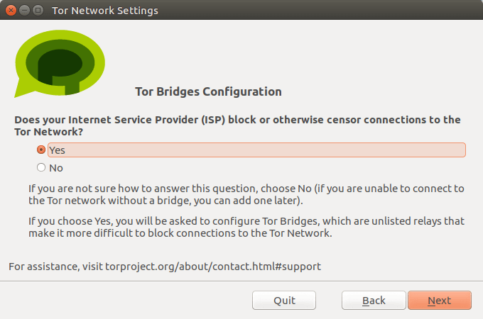 Tor messenger tor bridge config