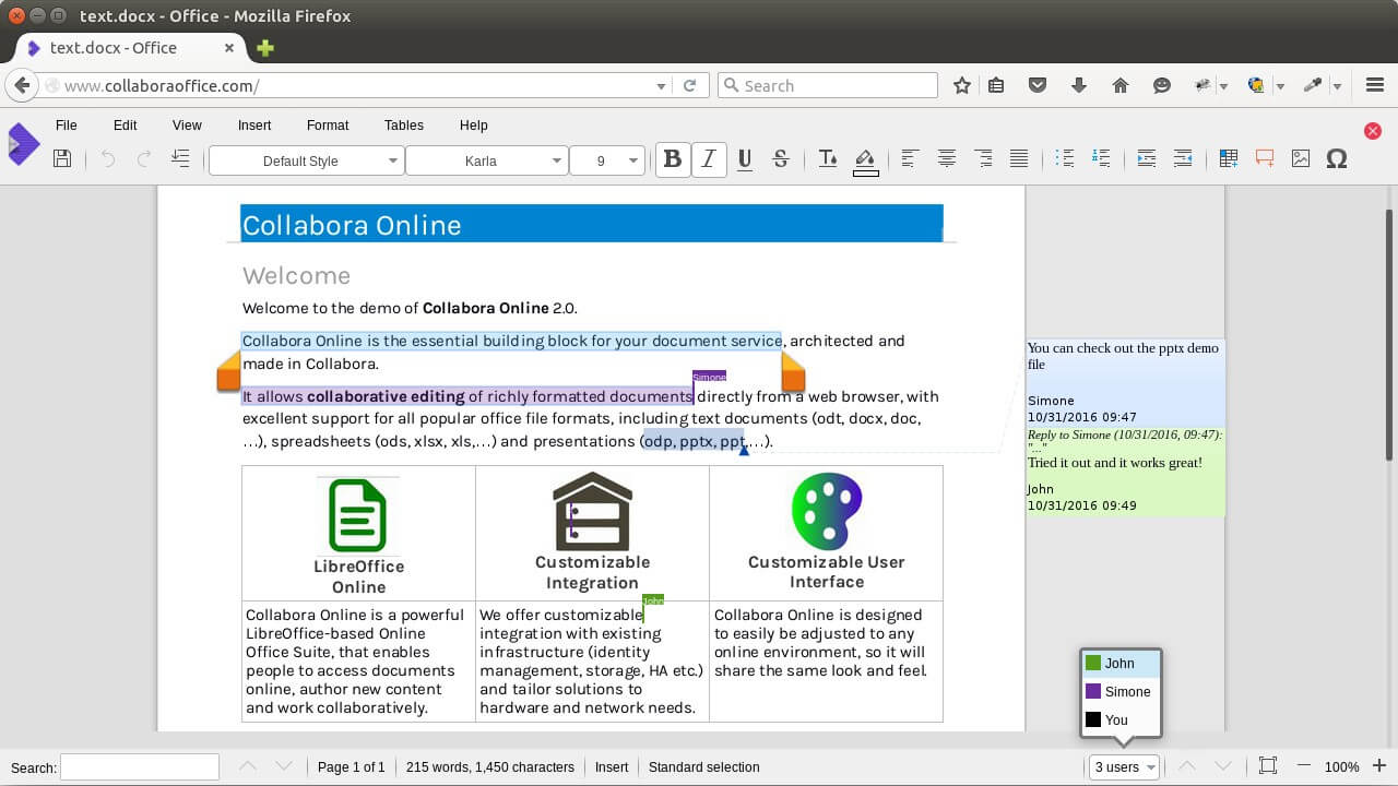 collabora online 2.0 collaborative editing