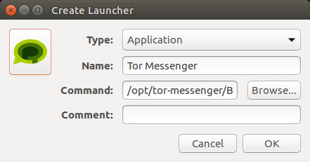 tor messenger launcher