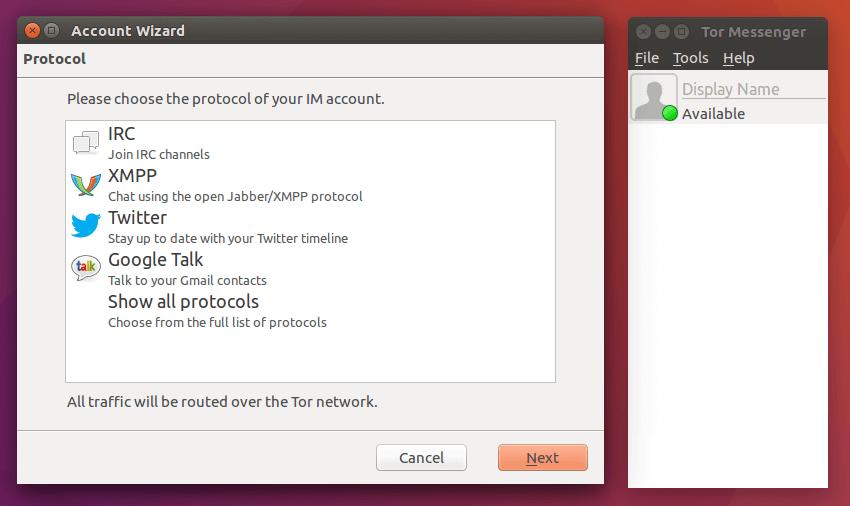 tor messenger ubuntu
