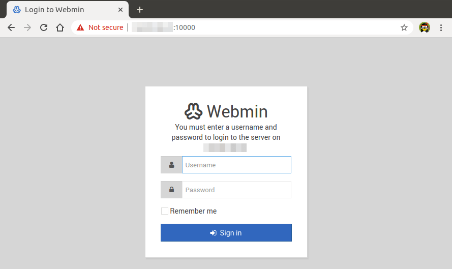 webmin ubuntu install