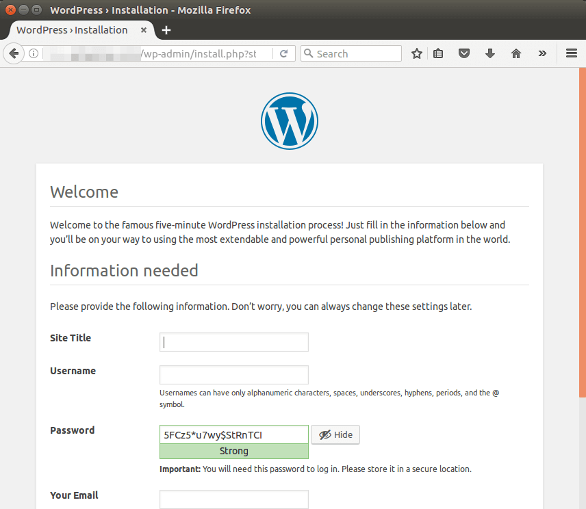 wordpress 4.7 ubuntu 16.04