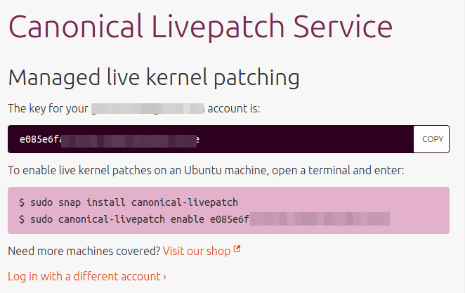 live kernel patching