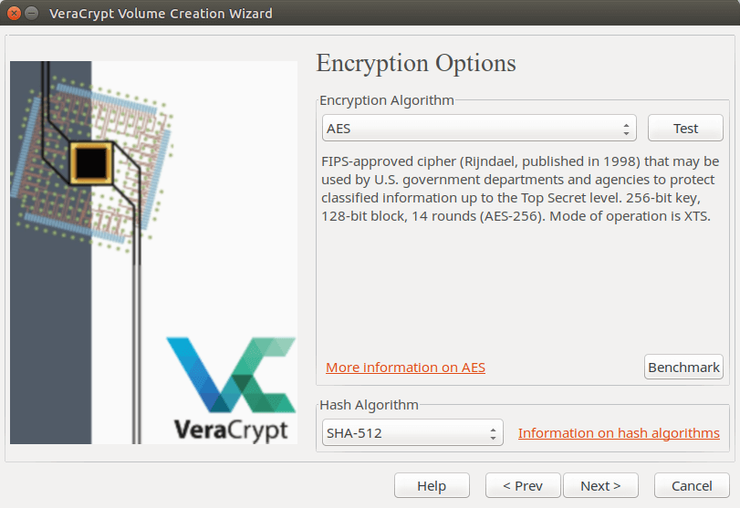 VeraCrypt which encryption algorithm