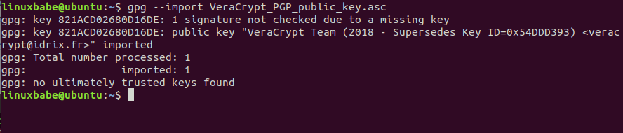 gpg import veracrypt public key