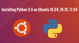 install python 3.6 ubuntu 16.04
