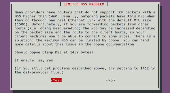 pppoe Limited MSS Problem