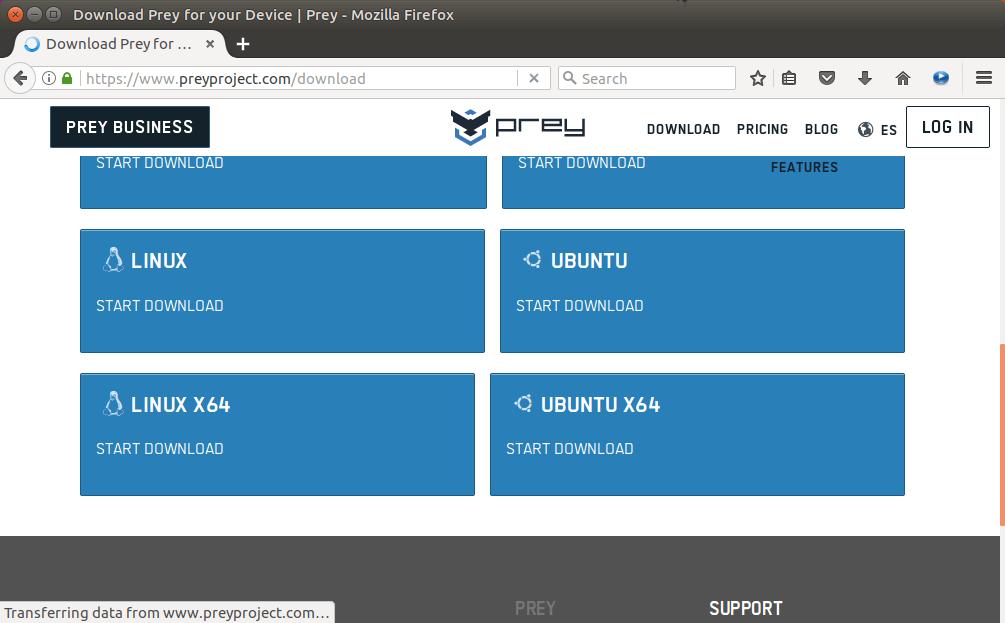 prey ubuntu 16.04