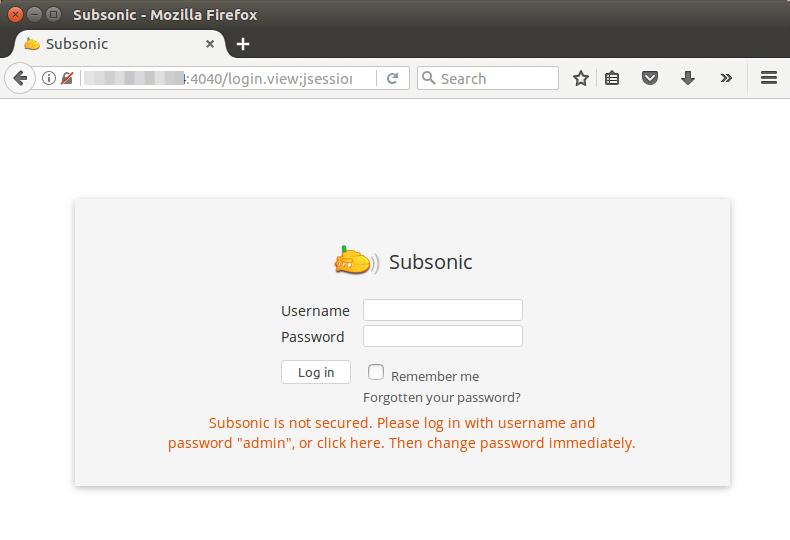 subsonic ubuntu 16.04