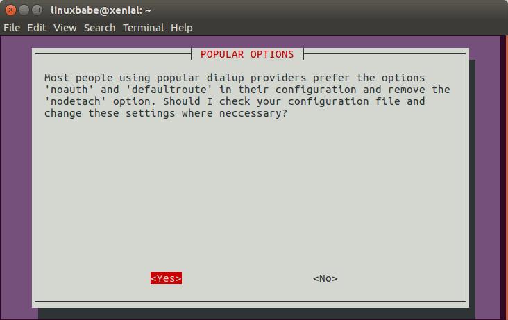 ubuntu sudo pppoeconf