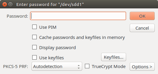 veracrypt encypted flash drive