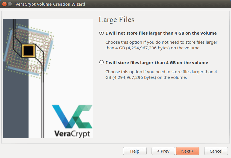 veracrypt large files