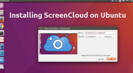 install screencloud app on ubuntu