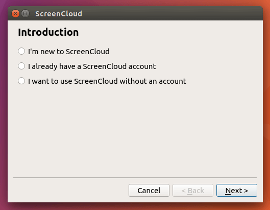 install screencloud on ubuntu16.04