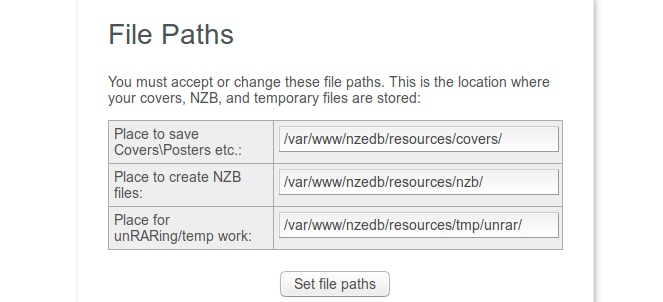 nzedb file paths