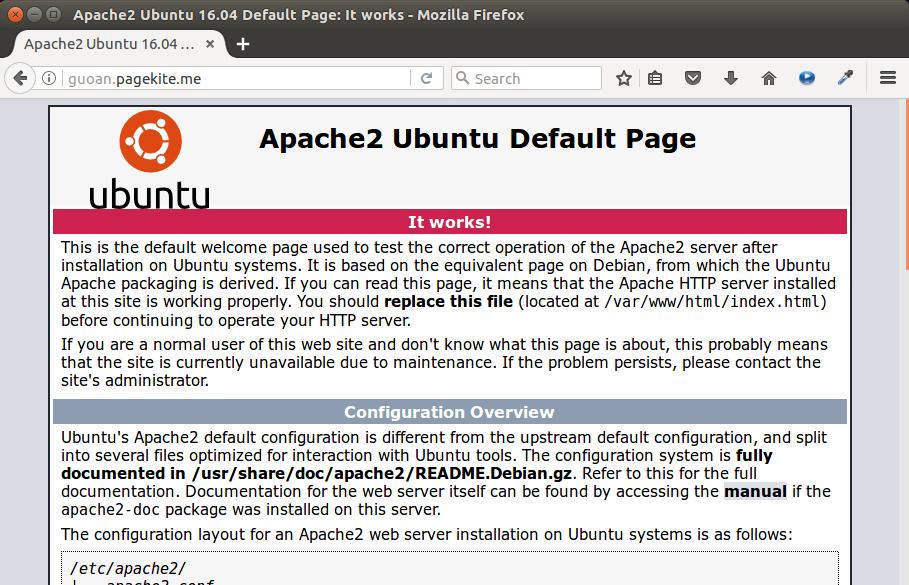 pagekite tutorial tunneled reverse proxy