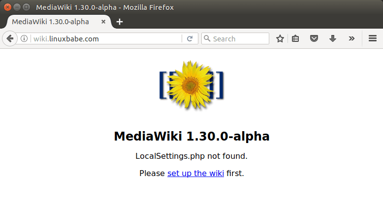 how to install mediawiki
