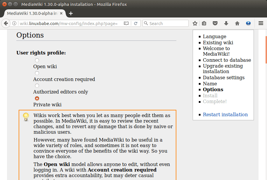 mediawiki ubuntu 16.04