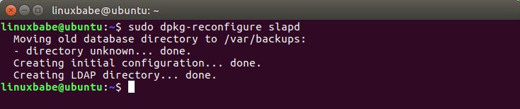 openldap ubuntu 16.04 configuration