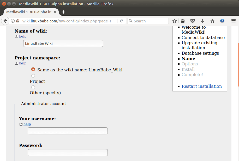 ubuntu 16.04 mediawiki