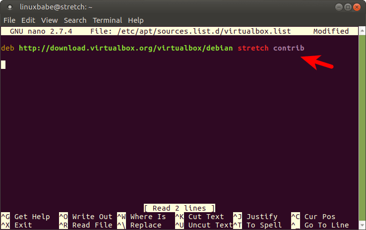 debian 9 virtualbox