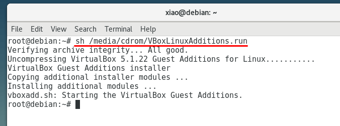 install virtualbox guest additions in debian 9 stretch