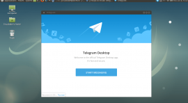 install telegram on debian 9 stretch