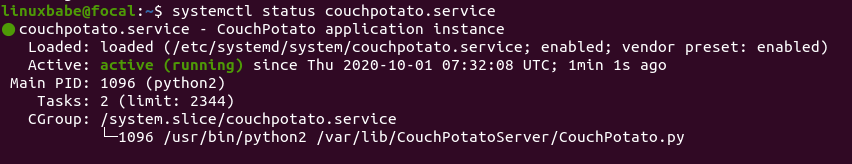 couchpotato systemd service unit