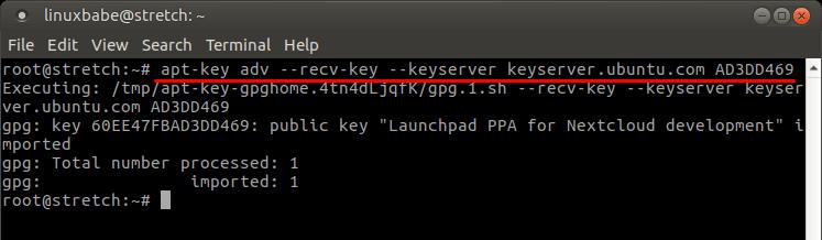 nextcloud client debian
