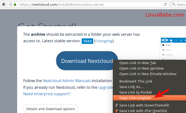nextcloud download