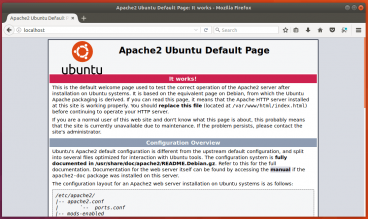 Ubuntu 17.10 apache web server