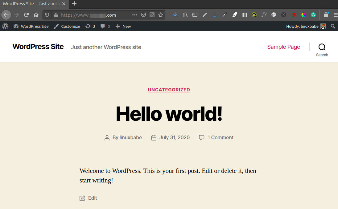 install wordpress ubuntu 20.04 LAMP